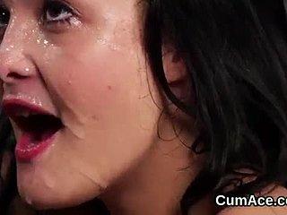 Lesbian cum swallowers