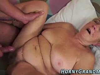 Grandmother, Cock, Big tits, Tits, Old woman, Old, Monster cock
